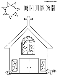 Small Picture Coloring Pages For A Church Coloring Pages