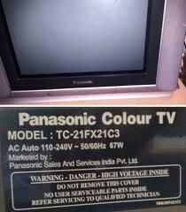 panasonic tv parts. dead panasonic tc-21fx21c3 crt ctv repaired tv parts