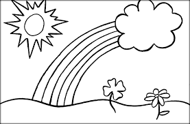 Small Picture Rainbow Coloring Page With Color Words Miakenas Net Coloring