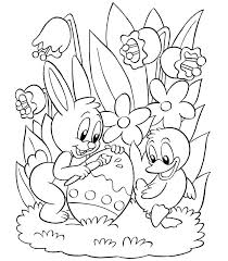 Happy Free Easter Coloring Pages For Preschoolers Religious
