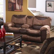 catnapper portman polyester power console reclining loveseat in saddle 61969235244230709