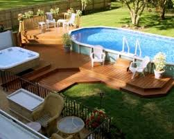 above ground pool with deck surround. Above Ground Pool With Deck Surround : Why An Is Preferable