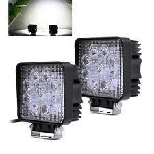 12v led spot lights 2x 27w 12v led work light bar spot lights for driving lamp offroad car truck suv