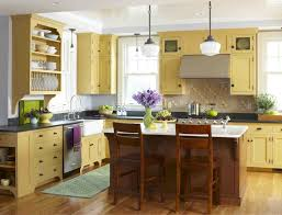 Yellow And Brown Kitchen White Cabinets With Yellow Accent Acrylic Chairs Reclaim Gray Wood
