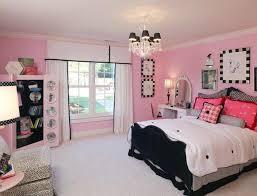 Pink Teenage Bedrooms Soft Pink Wall Color For Teenage Bedroom Design With Black