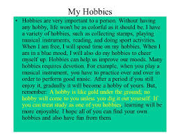 essay my hobby is singing
