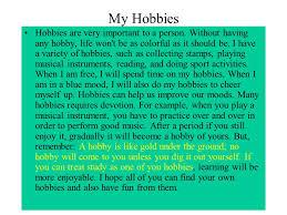 essay my hobby is singing