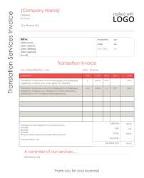 Translation Invoice Template Audio Visual Technician Your Point