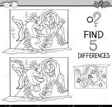 Vettoriale Illustrazione In Bianco E Nero Del Fumetto Di Trovare