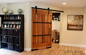 home office decorating ideas with sliding barn door in a rustic