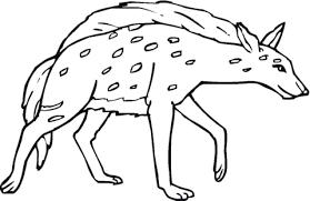 Lachende Hyena Kleurplaat Gratis Kleurplaten Printen