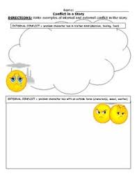 internal and external conflict treasure of lemon brown middle conflict worksheet internal external conflict