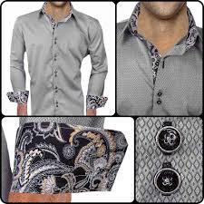 Mens Designer Grey Shirt Mens Designer Dress Shirt Night Hawk