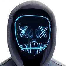 Halloween Mask,LED Masks Glow Scary Mask Light ... - Amazon.com