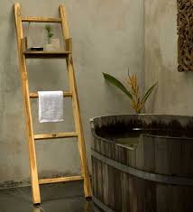 Towel Racks. Natural Wood DecorLadder ...