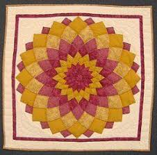 155 best amish quilts images on Pinterest | 3/4 beds, Afghans and ... & Amish Quilt Gallery | Amish Quilt Blue Dahlia Wall Hanging handmade  patchwork small quilt Adamdwight.com