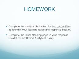 critical analytical response to literature ppt video online  15 homework
