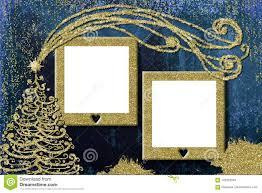 Christmas Photo Frames For Kids Christmas 2 Photo Frames Cards Stock Photo Image Of Blank