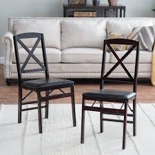 vinyl folding chairs. Cosco Bridgeport Folding Chair With Vinyl Seat And X-Back\u0026#44; Espresso - 2 Pack Walmart.com Chairs W