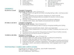 Caregiver Resume Interesting Caregiver Resume Example Sample Resume For Caregiver Caregiver