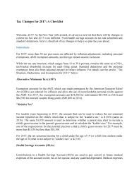 Tax Changes For 2017 A Checklist By Manendra Issuu