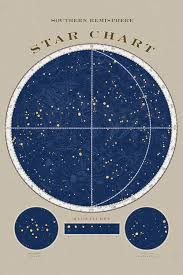 Star Charts For Southern Hemisphere Southern Hemisphere Star Chart Canvas Art Print By Sue Schlabach Icanvas