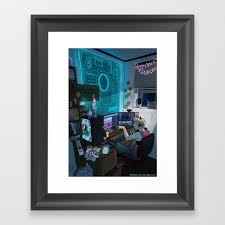 home office artwork. Modern Male Witch: Home Office Framed Art Print Home Office Artwork I