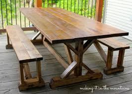 diy outdoor table. Diy Farmhouse Table 6 Outdoor