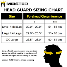 Boxing Head Guard Size Chart Meister Gel Full Face Training Head Guard For Mma Boxing Muay Thai White Black Large X Large