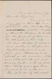 Abby Kelley Foster autograph letter signed to Thomas Wentworth Higginson,  Worcester, Massachusetts, 5 February 1876 - Digital Commonwealth