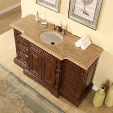 60 Bathroom Cabinet Accord 60 Inch Bathroom Vanity Roman Vein Cut Travertine Top