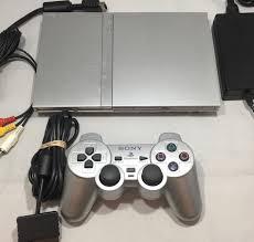 sony playstation 2 slim. playstation 2 slim silver original console \u0026 controller - the game shed sony k