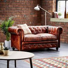 Two Seater Sofa Living Room Leather Chesterfield 2 Seater Sofa Wallace Sacks