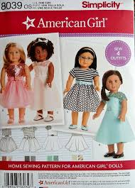 American Girl Doll Patterns Simplicity