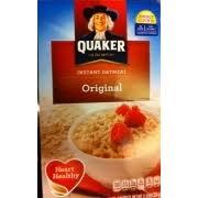quaker instant oatmeal original nutrition grade a minus