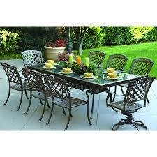 darlee sedona 9 piece cast aluminum patio dining set with rectangular granite top table