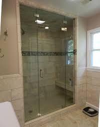 frameless panel door panel half inch glass steam unit 3