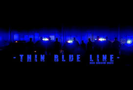 thin blue line wallpaper