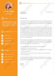 Orange Resume Template Resume Resume Template English Cv Png