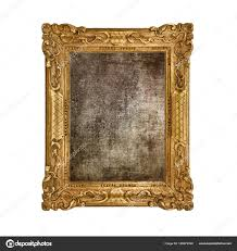 old frame in white background stock photo