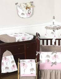 elephant crib bedding brilliant elephant pink taupe crib bedding set sweet designs 9 elephant crib