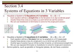 section 3 4systems of equations in 3 variables