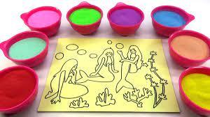 Nhà MÌnh Rất Vui!Nhạc Thiếu Nhi!Đồ chơi trẻ em TÔ MÀU TRANH CÁT HÌNH Nàng  Tiên CáColor Sand Paint - Dạy tô vẽ tranh ảnh đơn giản cho bé - Kho gấu