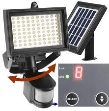 80 led outdoor solar motion light digitally adjule time lux 2 axis adjule solar lamp 2 axis adjule motion sensor lithium battery