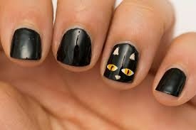 Halloween Cat Nail Art Designs, Quick and Easy Halloween Nail Art ...