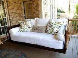 Porch Swing Bed Covers Hanging Beds Plans Swinging Charleston Sc