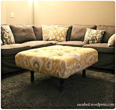 Diy Coffee Table Ottoman Diy Tufted Ikat Ottoman From Upcycled Pallet With Tutorial