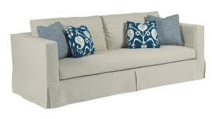 modern slipcover sofa with kick pleat skirt by kincaid furniture