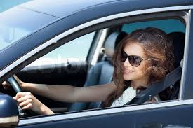 Image Colourbox Stock Girl Car Driving A