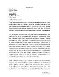 Student Teacher Letter Of Recommendations For Elementary Teacher